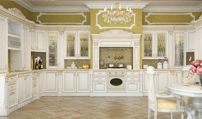 кухня Infinity угловая белая арт 102 купить по низкой цене от