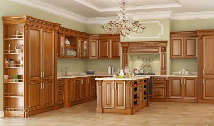 Кухня в бежевокоричневых тонах фото